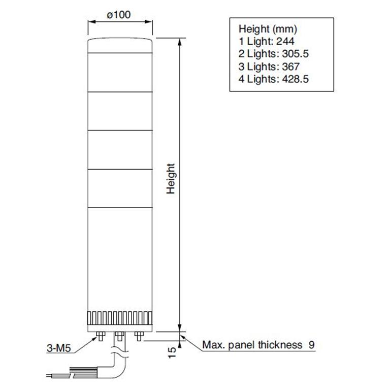Motion 29 :: LGE 100mm LED Stack Light With Direct Mounting