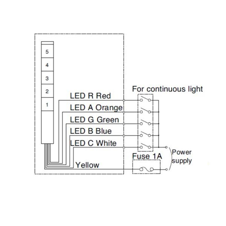 30mm signal light tower led signal tower light