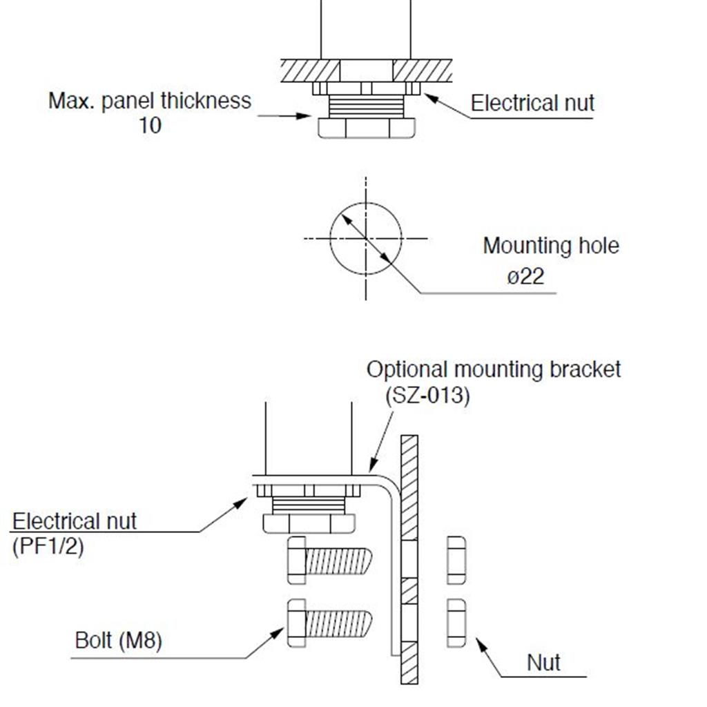 led stack lights 25mm stack lights compact andon lights patlite me mes mounting diagram
