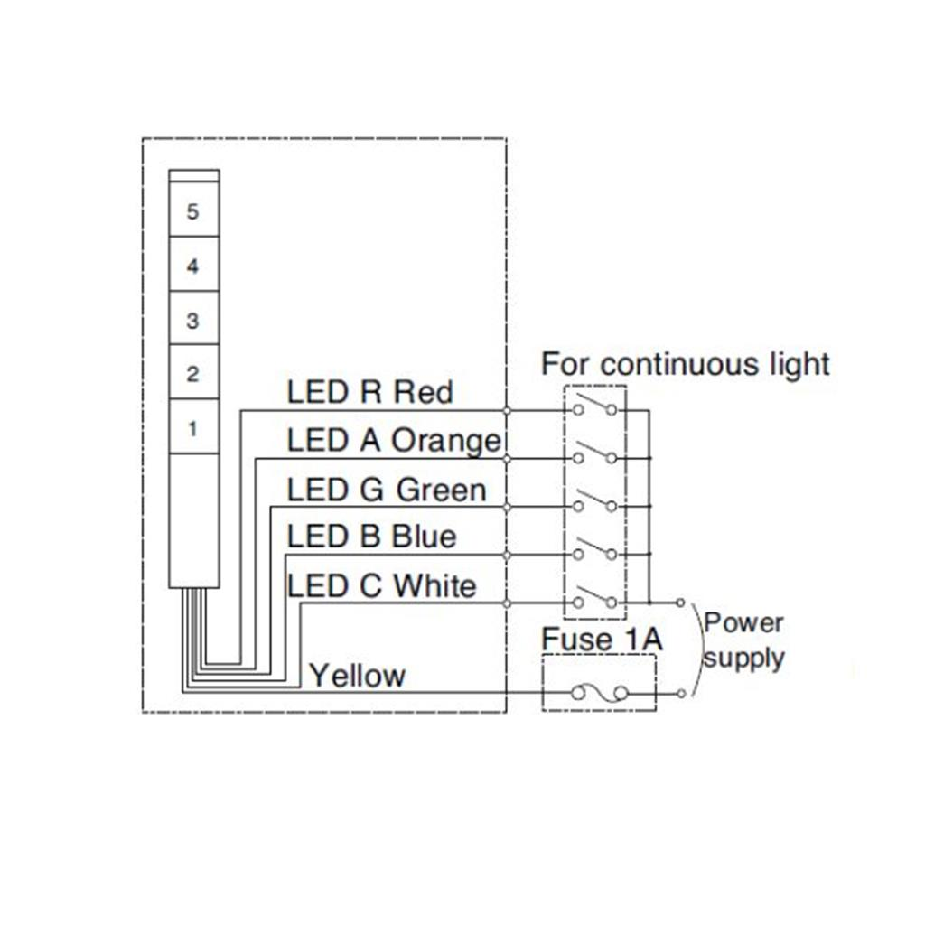 30mm signal light tower led signal tower light patlite mp mps wiring diagram