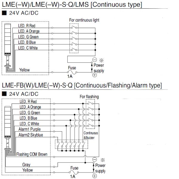 LME_Wiring?width\=1024 patlite wiring diagram panasonic wiring diagram \u2022 wiring diagrams allen bradley stack light wiring diagram at fashall.co