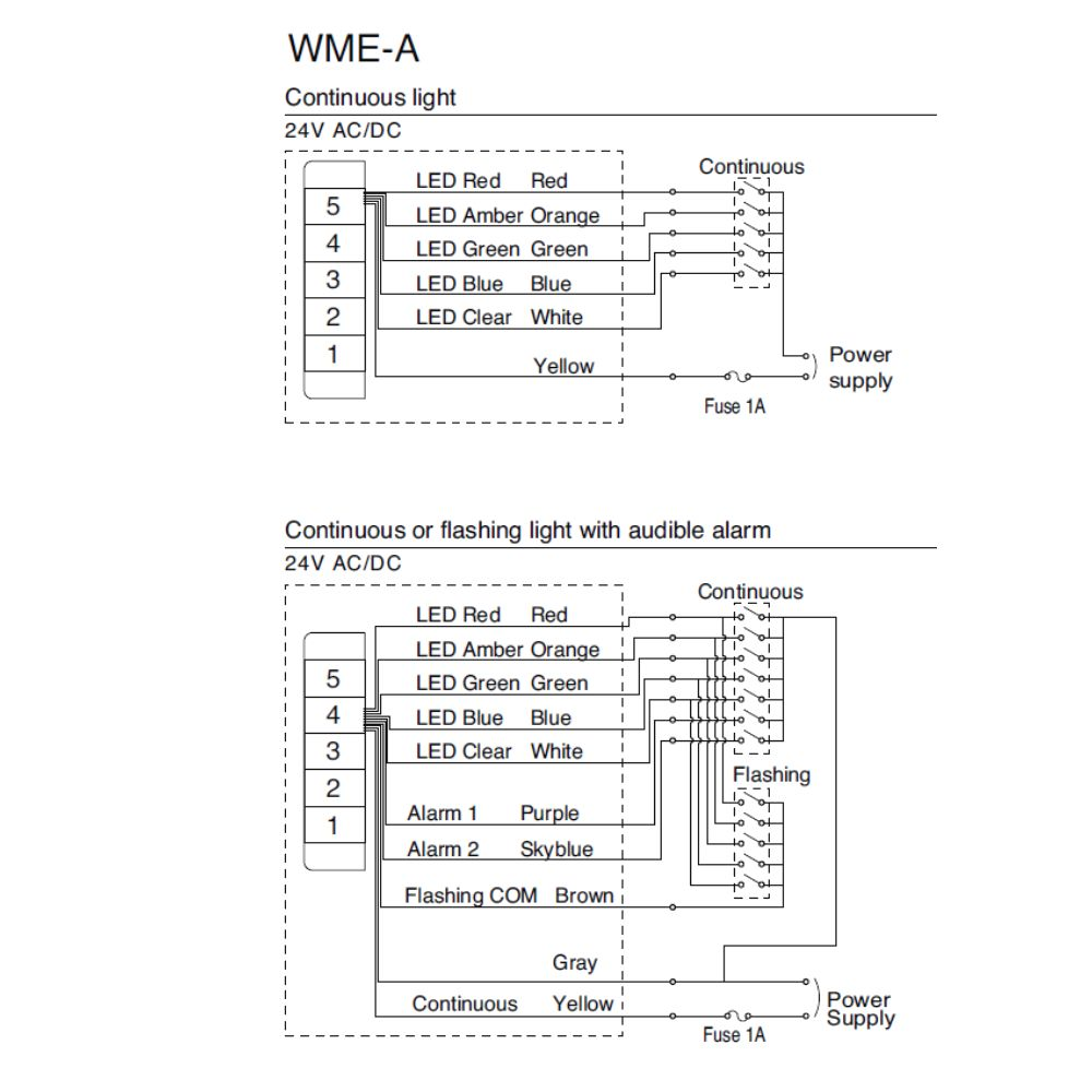 WME A_Wiring?width=1024 stack light wall mounted led call light wall mounting patlite wiring diagram at aneh.co