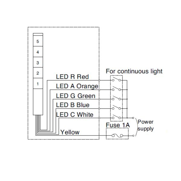 30mm signal light tower led signal tower light rh motion29 com patlite signal tower wiring diagram
